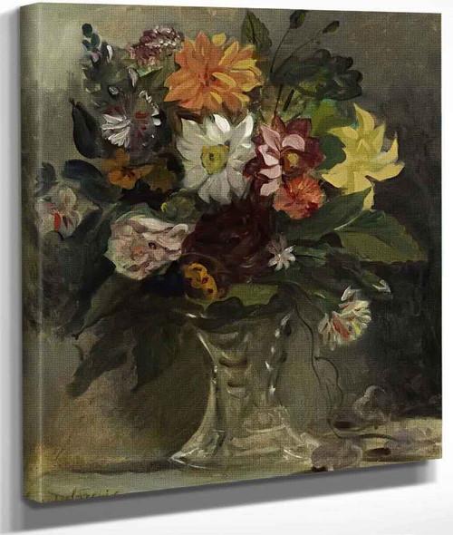 A Vase Of Flowers By Eugene Delacroix By Eugene Delacroix