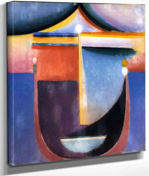 Abstract Head Composition No. 'The Sea' By Alexei Jawlensky By Alexei Jawlensky