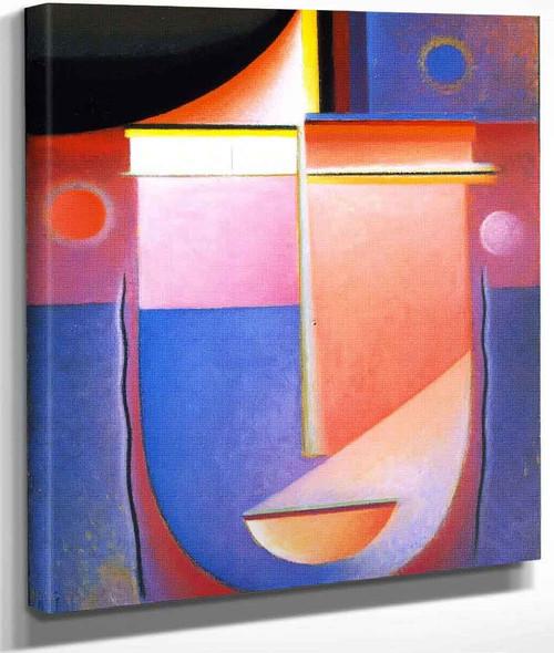 Abstract Head Inner Vision Rosy Light By Alexei Jawlensky By Alexei Jawlensky