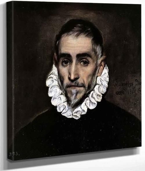 An Elderly Gentleman By El Greco By El Greco