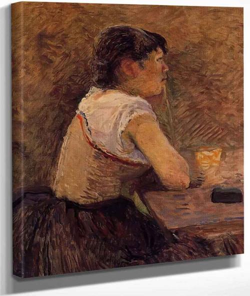 At Gennelle, Absinthe Drinker By Henri De Toulouse Lautrec