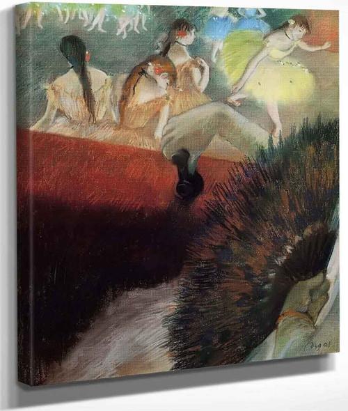 At The Ballet By Edgar Degas By Edgar Degas