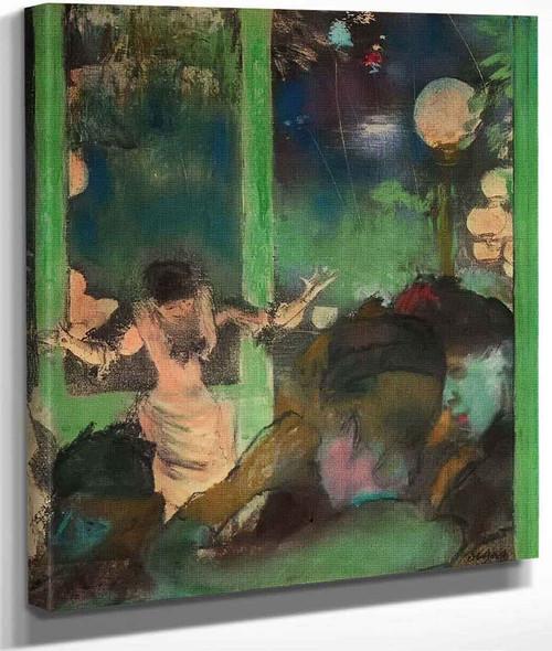 At The Cafe Des Ambassadeurs By Edgar Degas By Edgar Degas
