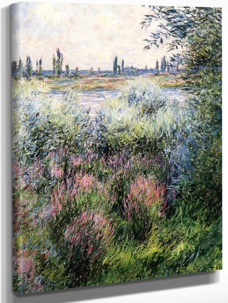By The Seine, A Corner Of The Bank By Claude Oscar Monet