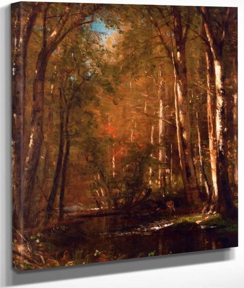 Autumn Landscape With Trees By Thomas Worthington Whittredge