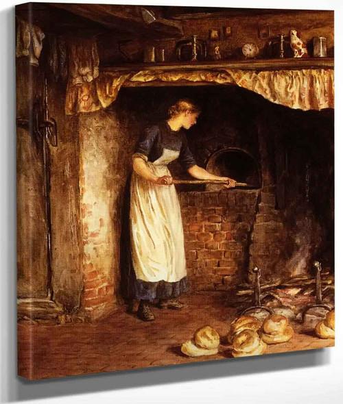 Baking Bread By Helen Allingham By Helen Allingham