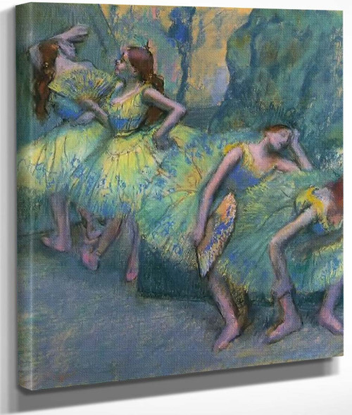Ballet Dancers In The Wings By Edgar Degas By Edgar Degas