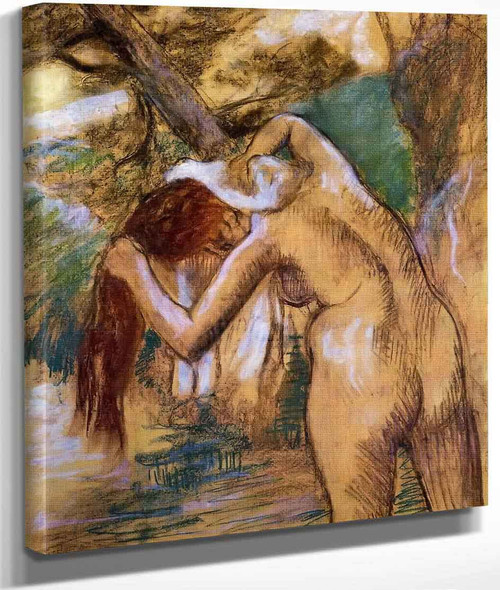 Bather By The Water By Edgar Degas By Edgar Degas