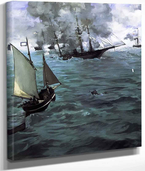 Battle Of The U.S.S. 'Kearsarge' And The C.S.S. 'Alabama' By Edouard Manet By Edouard Manet