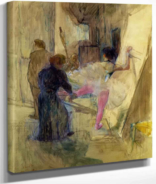 Behind The Scenes By Henri De Toulouse Lautrec