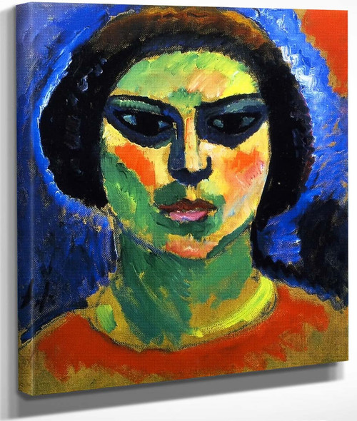 Blossoming Girl By Alexei Jawlensky By Alexei Jawlensky