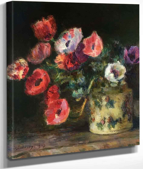 Bouquet Of Anemones By Albert Lebourg By Albert Lebourg
