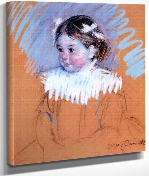 Bust Of Ellen With Bows In Her Hair By Mary Cassatt By Mary Cassatt