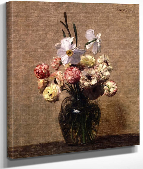 Buttercups And Daffodils By Henri Fantin Latour By Henri Fantin Latour
