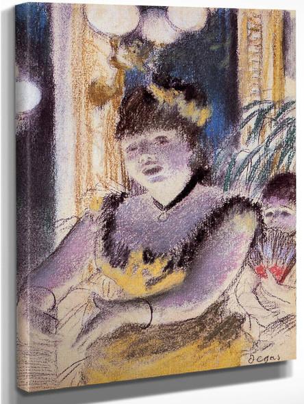 Cafe Concert Singer By Edgar Degas