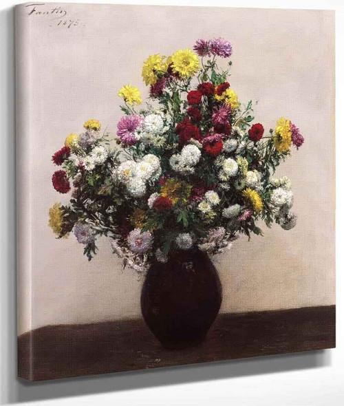 Chrysanthemums By Henri Fantin Latour By Henri Fantin Latour