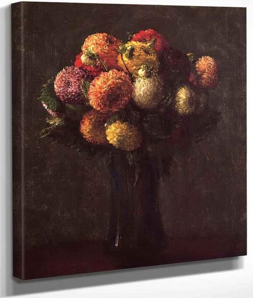 Dahlias Sombres By Henri Fantin Latour By Henri Fantin Latour