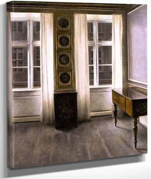 Drawing Room. The Four Copper Prings By Vilhelm Hammershoi By Vilhelm Hammershoi