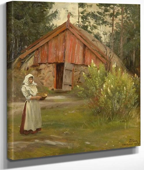 Farmyard By Paul Gustave Fischer By Paul Gustave Fischer