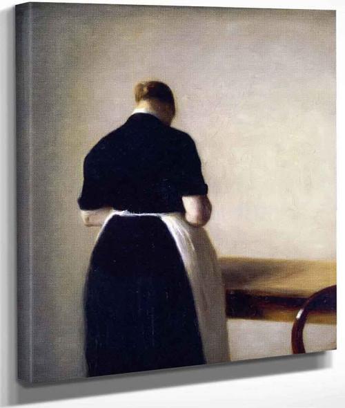 Figure Of A Woman By Vilhelm Hammershoi By Vilhelm Hammershoi