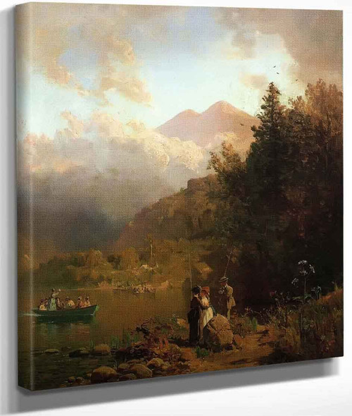 Fishing Party In The Mountains By Thomas Hill By Thomas Hill