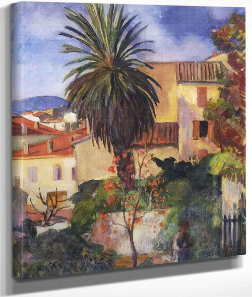 Garden At St Tropez By Henri Lebasque By Henri Lebasque