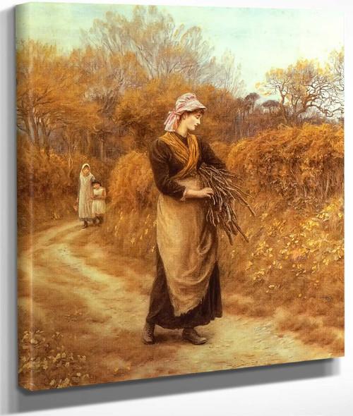 Gathering Firewood By Helen Allingham By Helen Allingham