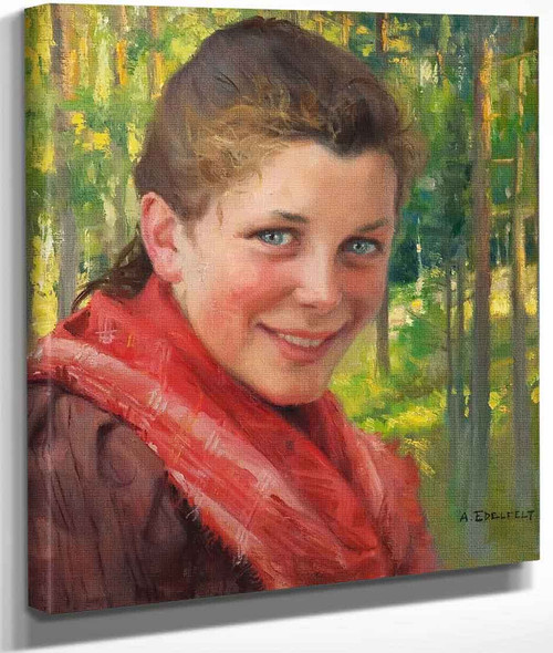 Girl From Porvoo By Albert Edelfelt