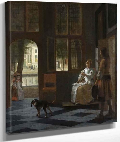 In Empowering A Letter In A House By Pieter De Hooch