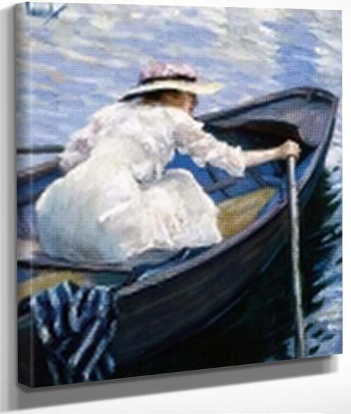In The Boat By Edward Cucuel By Edward Cucuel