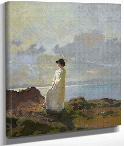 In The Cliffs, Dublin Bay, Morning By Sir William Orpen By Sir William Orpen