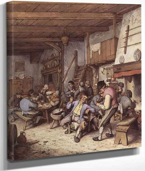 Interior Of A Tavern By Adriaen Van Ostade By Adriaen Van Ostade