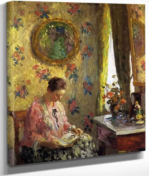 Lady Reading By Gari Melchers