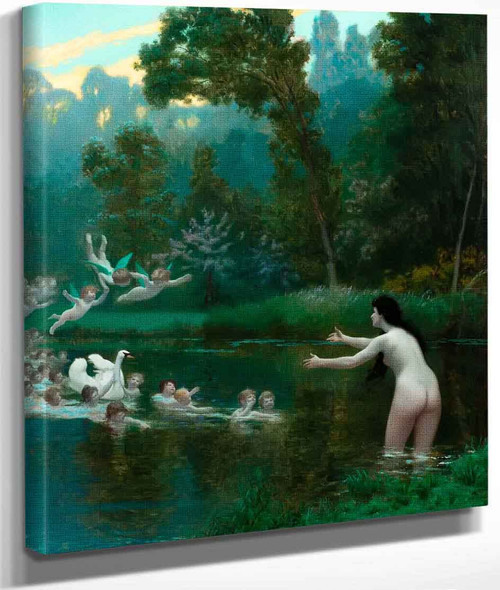 Leda And The Swan By Jean Leon Gerome By Jean Leon Gerome