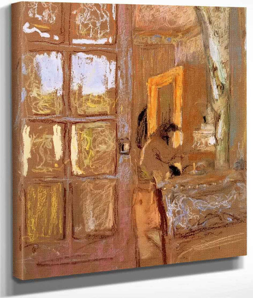 Madame Vuillard In An Interior By Edouard Vuillard