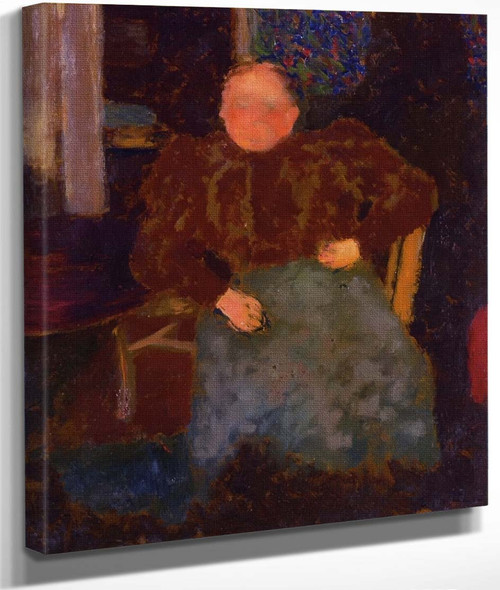 Madame Vuillard Seated By Edouard Vuillard