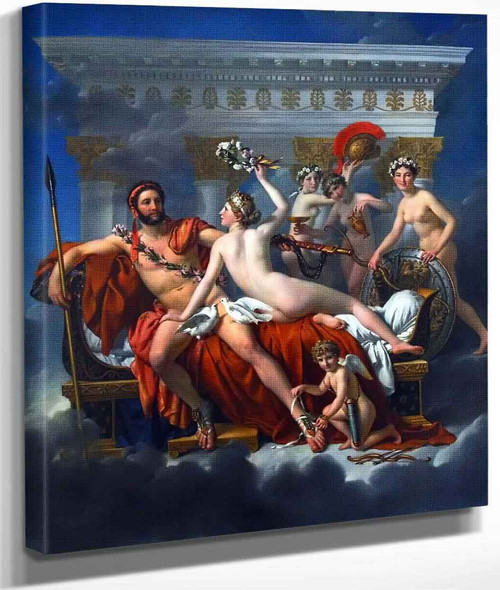 Mars Disarmed By Venus And The Three Graces By Jacques Louis David By Jacques Louis David