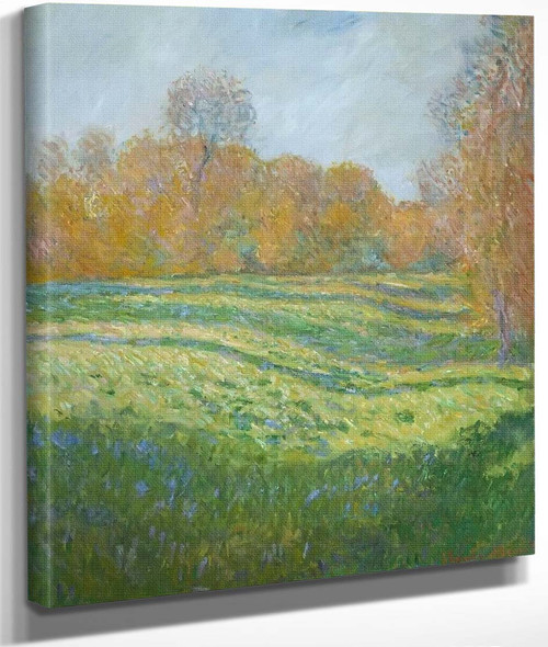 Meadow At Giverny By Claude Oscar Monet