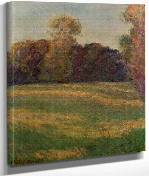 Meadow In The Sun, At Giverny By Claude Oscar Monet