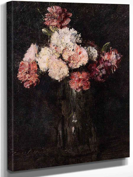 Carnations In A Champagne Glass By Henri Fantin Latour By Henri Fantin Latour