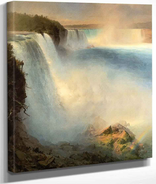Niagara Falls From The American Side By Frederic Edwin Church By Frederic Edwin Church