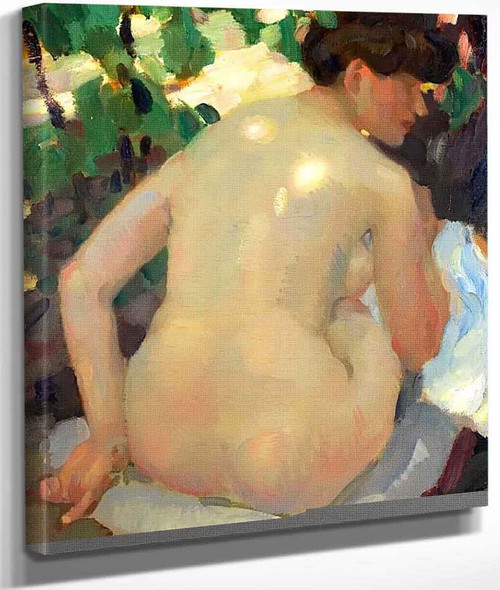 Nude With Back In The Sun By Leo Putz