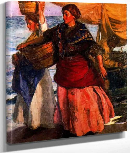 Pescadoras Valencianas By Jose Mongrell Torrent