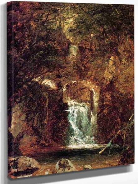 Cascade Near Lake George By John Frederick Kensett By John Frederick Kensett
