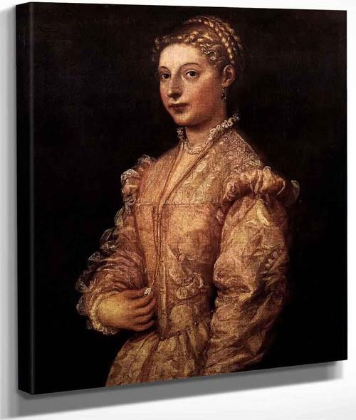 Portrait Of A Girl By Titian