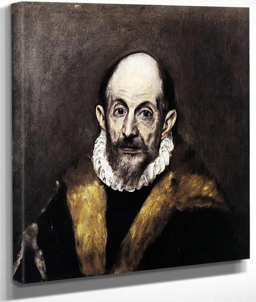 Portrait Of A Man By El Greco By El Greco