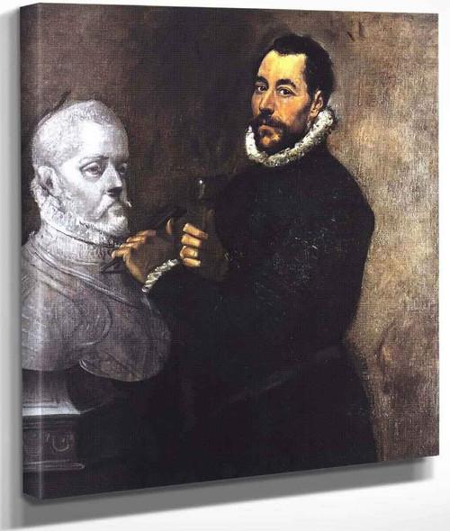 Portrait Of A Sculptor By El Greco By El Greco