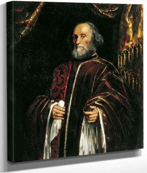 Portrait Of A Senator By Jacopo Tintoretto