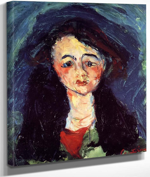 Portrait Of A Young Girl By Chaim Soutinefrench,