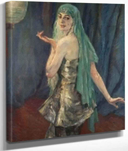 Portrait Of Anneliese Wolff By Edward Cucuel By Edward Cucuel